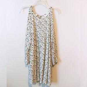 Old Navy Cream Floral Cold Shoulder Dress (XXL)